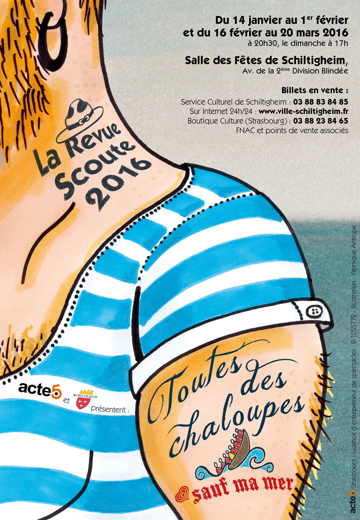 Affiche Revue Scoute 2016